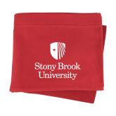 Red Sweatshirt Blanket-University Mark Vertical