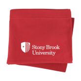 Red Sweatshirt Blanket-University Mark Stacked