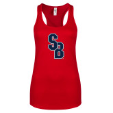 Next Level Ladies Red Ideal Racerback Tank-Interlocking SB
