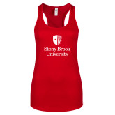 Next Level Ladies Red Ideal Racerback Tank-University Mark Vertical