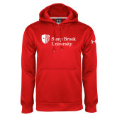 Under Armour Red Performance Sweats Team Hoodie-University Mark Stacked