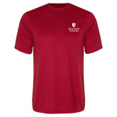 Performance Red Tee-University Mark Vertical