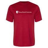 Performance Red Tee-University Mark Horizontal