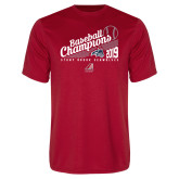 Performance Red Tee-2019 Baseball Champions