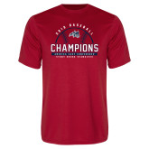 Performance Red Tee-2019 America East Baseball Champions
