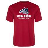Performance Red Tee-Wolfie Head Stony Book Marching Band