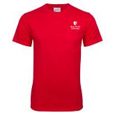 Red T Shirt w/Pocket-University Mark Vertical