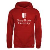 Russell DriPower Red Fleece Hoodie-University Mark Vertical