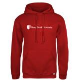 Russell DriPower Red Fleece Hoodie-University Mark Horizontal