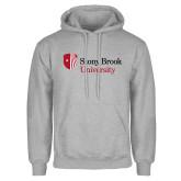 Grey Fleece Hoodie-University Mark Stacked