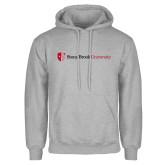Grey Fleece Hoodie-University Mark Horizontal