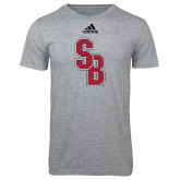 Adidas Sport Grey Logo T Shirt-Interlocking SB