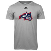 Adidas Climalite Sport Grey Ultimate Performance Tee-Wolfie Head