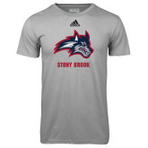 Adidas Climalite Sport Grey Ultimate Performance Tee-Wolfie Head and Stony Brook