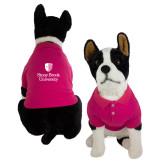 Classic Fuchsia Dog Polo-University Mark Vertical