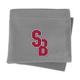 Grey Sweatshirt Blanket-Interlocking SB