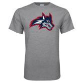 Grey T Shirt-Wolfie Head