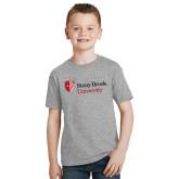 Youth Grey T Shirt-University Mark Stacked