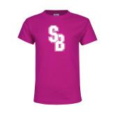 Youth Cyber Pink T Shirt-Interlocking SB