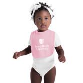 Light Pink Baby Bib-University Mark Vertical