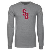 Grey Long Sleeve T Shirt-Interlocking SB