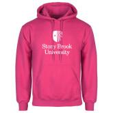 Fuchsia Fleece Hoodie-University Mark Vertical