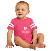Vintage Hot Pink Jersey Onesie-University Mark Vertical