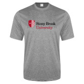 Performance Grey Heather Contender Tee-University Mark Stacked