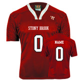 Replica Red Adult Lacrosse Jersey-Personalized