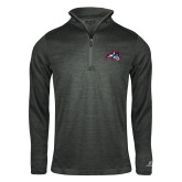 Russell Charcoal Heather 1/4 Zip-Wolfie Head
