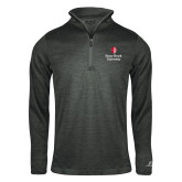 Russell Charcoal Heather 1/4 Zip-University Mark Vertical