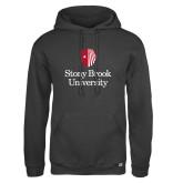 Russell DriPower Charcoal Fleece Hoodie-University Mark Vertical