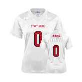 Ladies White Replica Football Jersey-Personalized