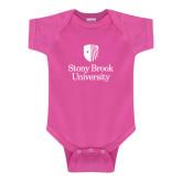 Fuchsia Infant Onesie-University Mark Vertical