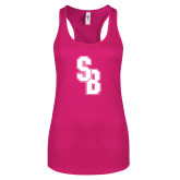 Next Level Ladies Raspberry Ideal Racerback Tank-Interlocking SB