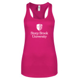 Next Level Ladies Raspberry Ideal Racerback Tank-University Mark Vertical