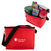 Six Pack Red Cooler-University Mark Stacked