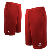 Russell Performance Red 10 Inch Short w/Pockets-University Mark Vertical