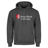 Charcoal Fleece Hoodie-University Mark Stacked