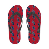 Ladies Full Color Flip Flops-Interlocking SB