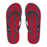 Full Color Flip Flops-Interlocking SB