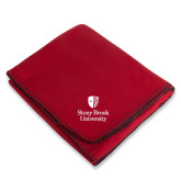 Red Arctic Fleece Blanket-University Mark Vertical