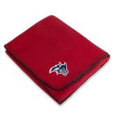 Red Arctic Fleece Blanket-Wolfie Head