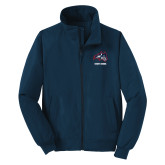 Navy Charger Jacket-Wolfie Head and Stony Brook