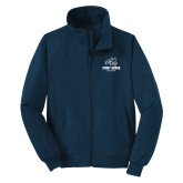 Navy Charger Jacket-Wolfie Head and Stony Brook Athletics