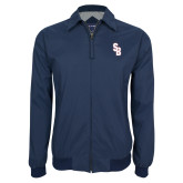 Navy Players Jacket-Interlocking SB