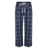 Navy/White Flannel Pajama Pant-Wolfie Head