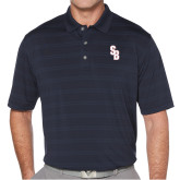 Callaway Horizontal Textured Navy Polo-Interlocking SB