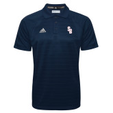 Adidas Climalite Navy Jacquard Select Polo-Interlocking SB