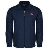 Full Zip Navy Wind Jacket-Wolfie Head